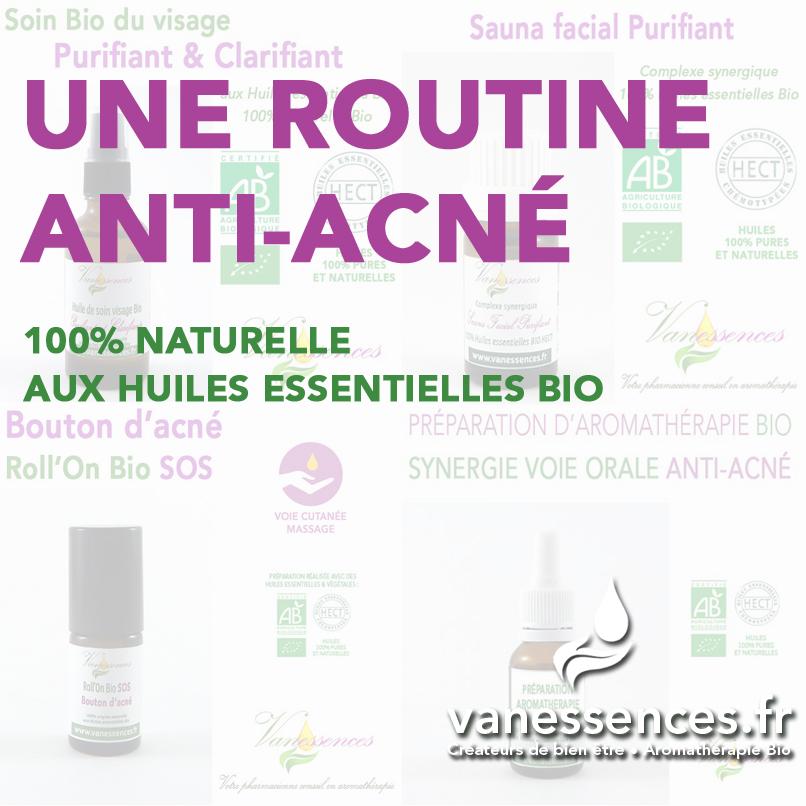 une routine anti-acné 100% naturelle aux huiles essentielles bio