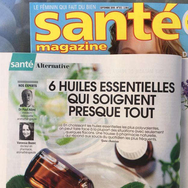 6 huiles essentielles qui soignent presque tout. Intervention du Dr Vanessa Bozec pharmacienne aromathérapeute pour Santé Magazine.