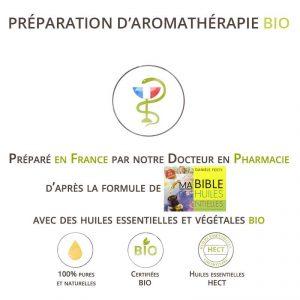 mélanges d'huiles essentielles bio d'après les formules de Danièle Festy Mam bible des HE