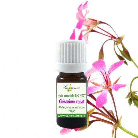Huile essentielle de Géranium rosat bio